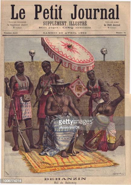 Le Petit Journal from 23 April 1892 The image of the Behanzin He was a king from Dahomey