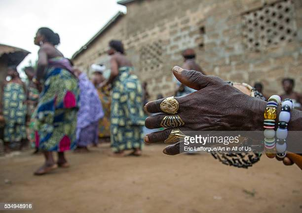 Benin West Africa Bopa women dancing during a traditional voodoo ceremony