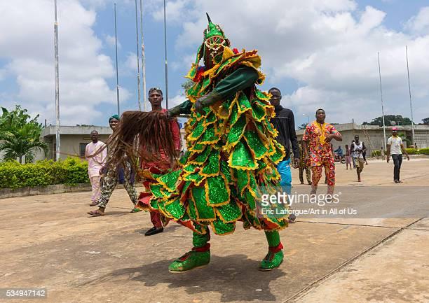 Benin West Africa PortoNovo egoun egoun spirit of the deads walking in the street to ask money to people