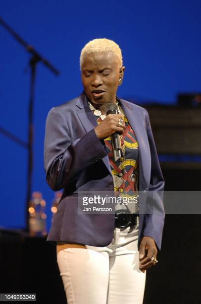Beninese singer/songwriter Angelique Kidjo performing at The Royal Theatre Copenhagen Denmark July 9 2008