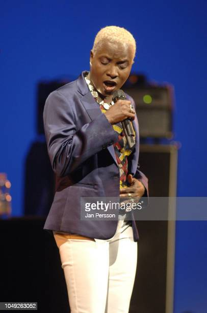 Beninese singer/songwriter Angelique Kidjo performing at The Royal Theatre Copenhagen Denmark July 9 2008