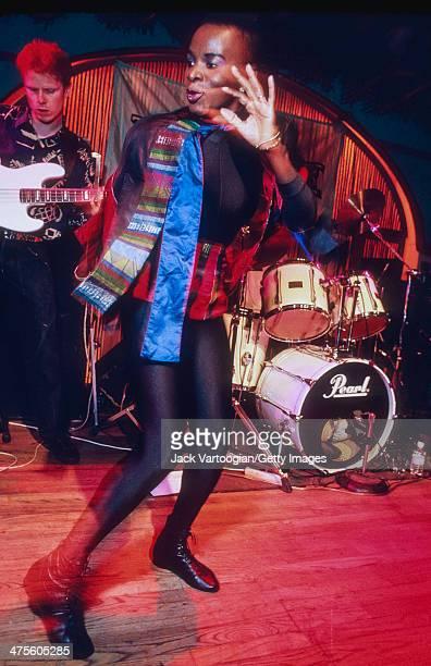 Beninese/American singer Angelique Kidjo makes her US debut onstage at SOB's nighclub New York New York October 2 1992