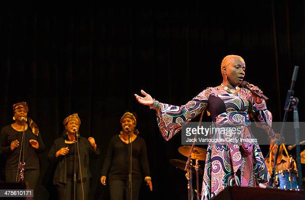 Beninese/American singer Angelique Kidjo performs onstage at Town Hall New York New York February 15 2014