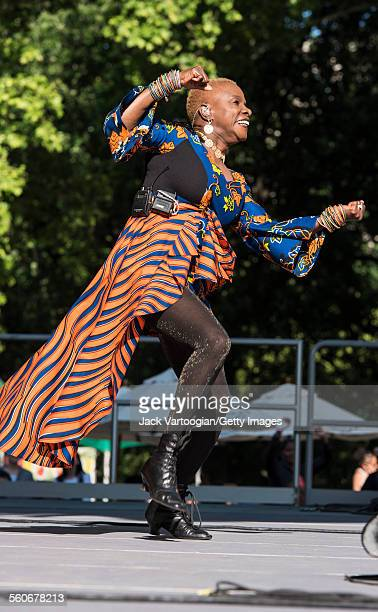 Benineseborn American musician Angelique Kidjo performs onstage at Central Park SummerStage New York New York June 7 2015