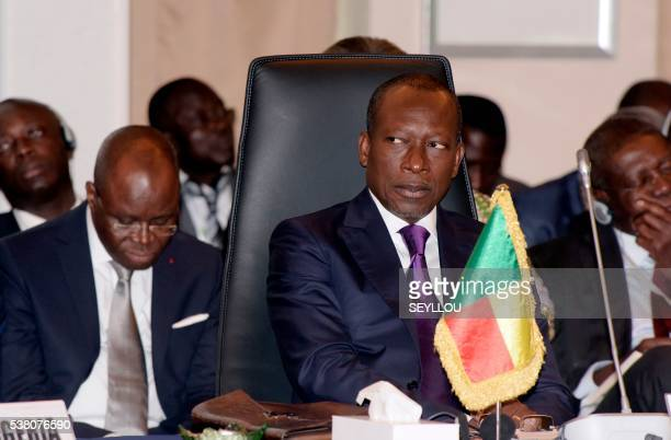 Benin's President Patrice Talon attends on June 4 2016 in Dakar Senegal the Economic Community of West African State 's 49th session aimed at...