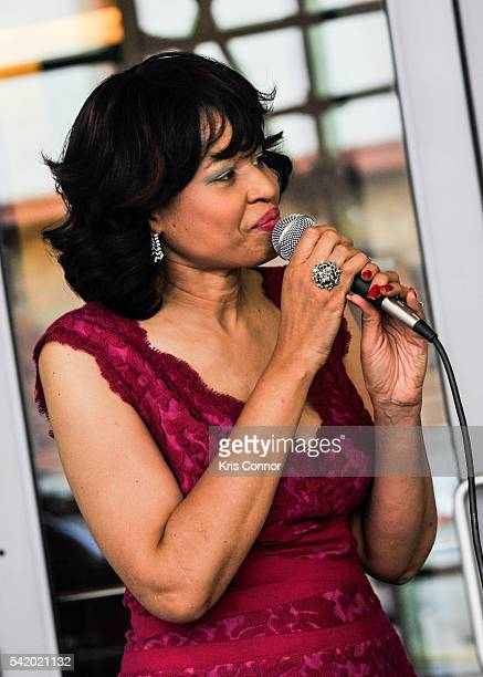 Benita Charles performs during Make Music Day Uptown Funk/Street Studio Harlem at Mist Harlem on June 21 2016 in New York City