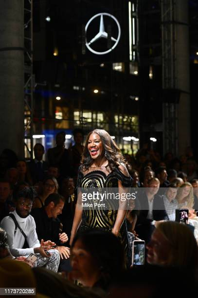 Benita Fitzgerald Mosley attends the 2019 Laureus Fashion Show Gala during New York Fashion Week bringing together sport and fashion to shine a light...