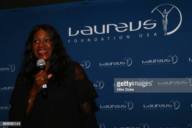 Benita Fitzgerald Mosley CEO of Laureus USA and Olympic Gold Medalist attends the Laureus Legends Dinner on November 2 2017 in New York City