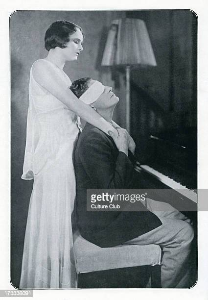 Benita Hume and Ivor Novello in Novello's 1929 play Symphony in Two Flats Caption reads 'David Oh Lesley What if I never saw you again Lesley Of...