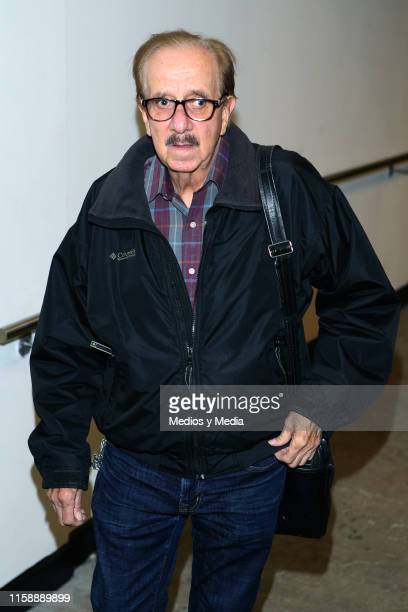 Benito Castro seen arriving during the funeral of singer actor and television presenter Gualberto Castro on June 28 2019 in Mexico City Mexico...