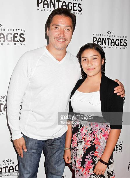 Benito Martinez and Isabella Martinez attend 'The Addams Family' opening night premiere at the Pantages Theatre on June 5 2012 in Hollywood California
