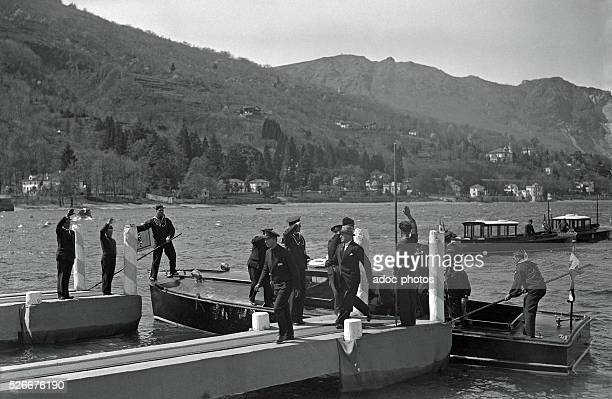 Benito Mussolini arriving at the Stresa Conference In April 1935