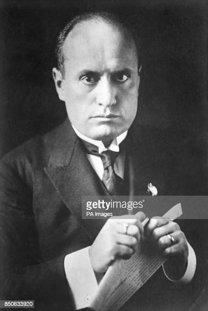 Benito Mussolini Head of Government of Italy and Duce of Fascism