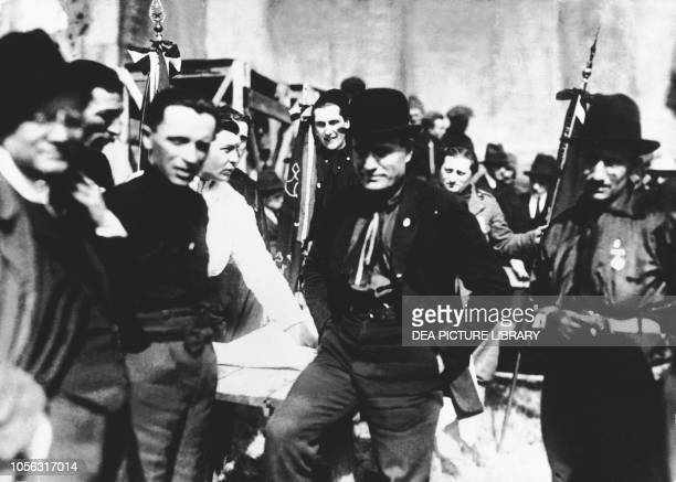 Benito Mussolini in one of the first photos in which he is wearing a black shirt Italy, 20th century.
