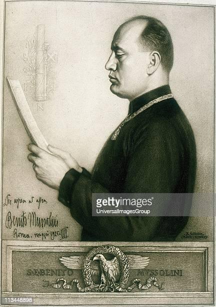 Benito Mussolini Italian Fascist dictator Rome 1925
