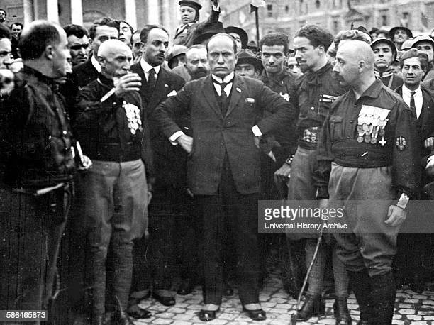 Benito Mussolini Italian politician journalist and leader of the National Fascist Party during the march on Rome 1922