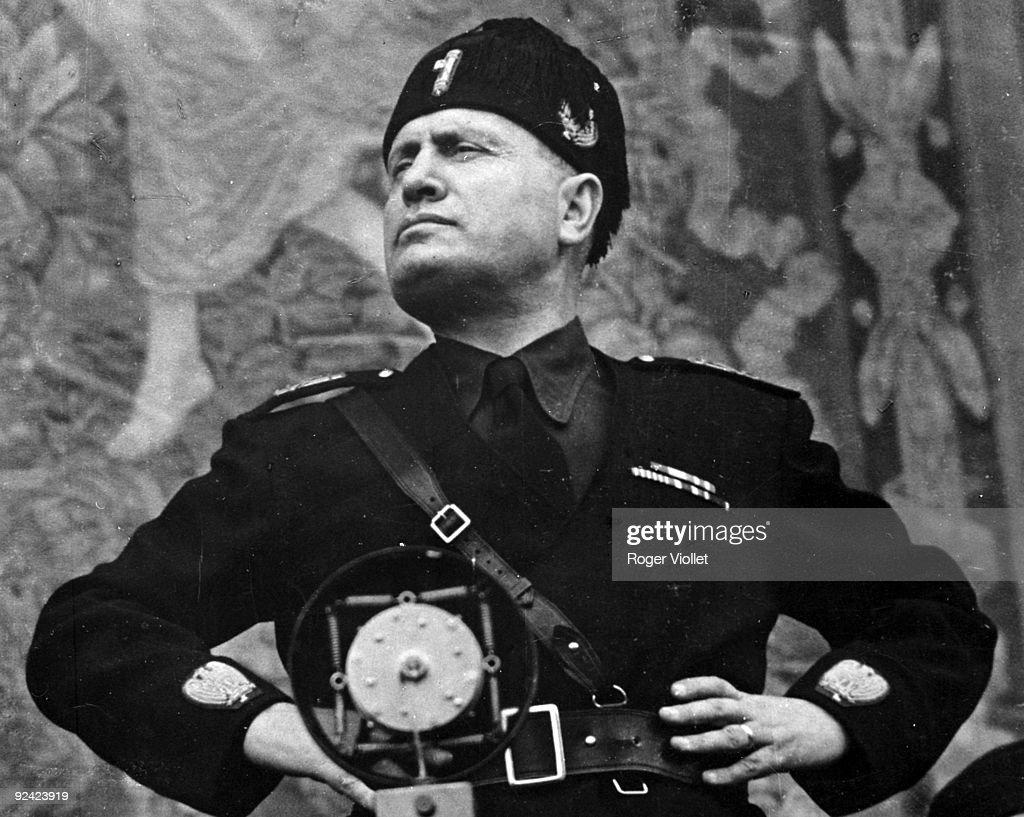 Benito Mussolini (1883-1945), Italian statesman. : News Photo