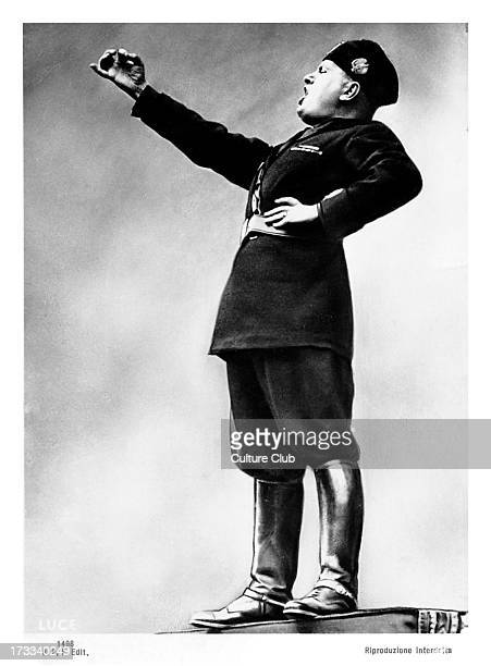 Benito Mussolini orating portrait 40th Prime Minister of Italy and leader of National Fascist Party 29 July 1883 – 28 April 1945