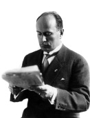 Benito mussolini reading a newspaper 1910s picture id141555360?s=170x170