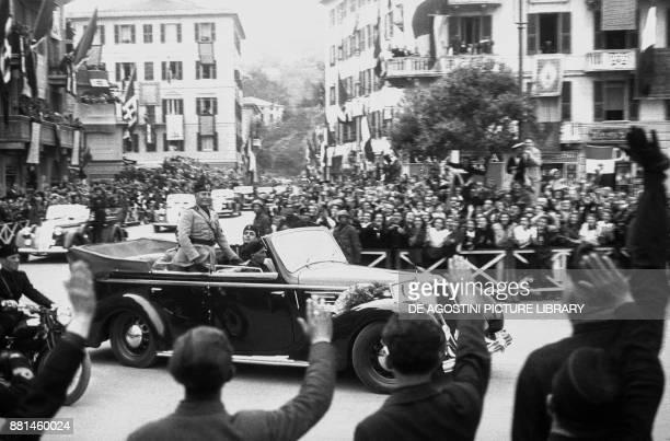 Benito Mussolini visiting Genoa May 15 Italy 20th century