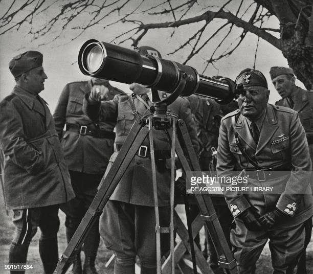 Benito Mussolini visiting the Greek front Albania World War II from L'Illustrazione Italiana Year LXVIII No 19 May 11 1941