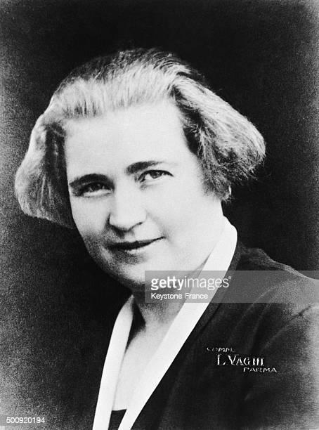 Benito Mussolini's wife Rachele Guidi in 1927 in Rome Italy
