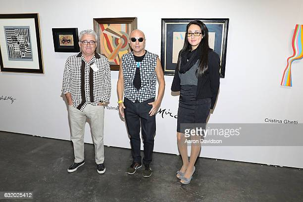 Benito Padilla Chicano Jimmy D Robinson and Camila McCalpin attends Art Palm Beach 20th Anniversary at Palm Beach Convention Center on January 18...