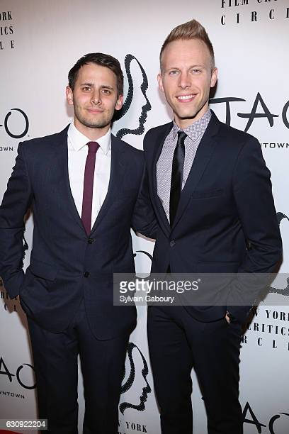 Benj Pasek and Justin Paul attend 2016 New York Film Critics Circle Awards on January 3 2017 in New York City