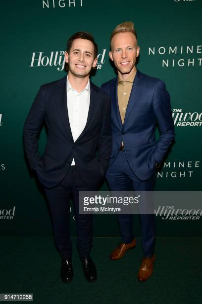 Benj Pasek and Justin Paul attend The Hollywood Reporter 6th Annual Nominees Night at CUT on February 5 2018 in Beverly Hills California