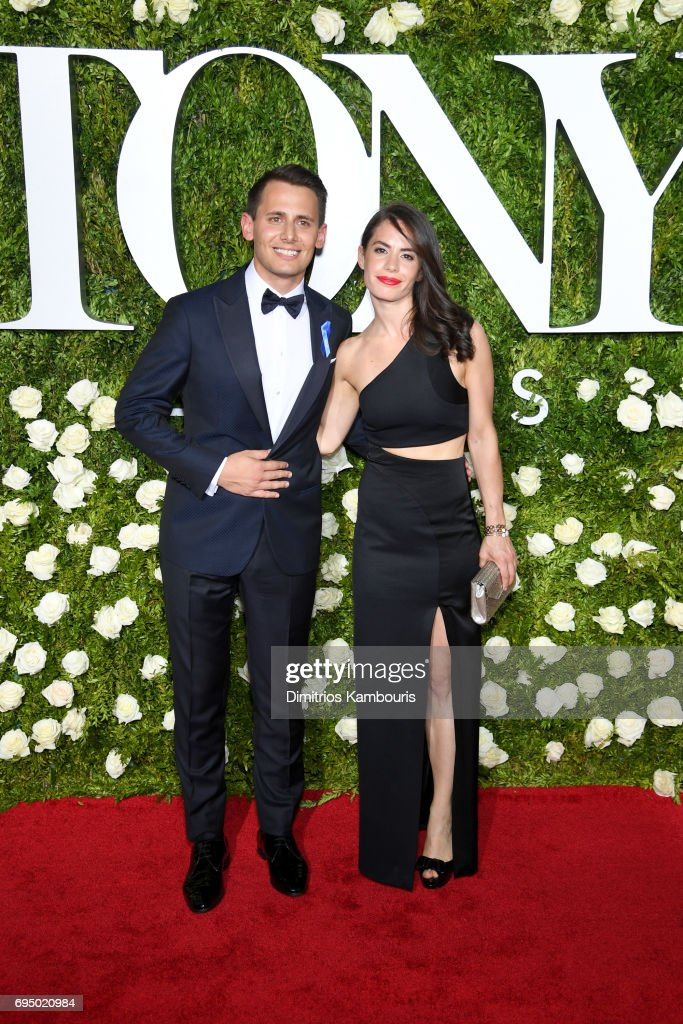 Benj Pasek (L) attends the 2017 Tony Awards at Radio City Music Hall on June 11, 2017 in New York City.