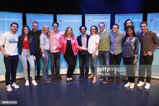 Benj Pasek, Laura Dreyfuss, Justin Paul, Rachel Bay Jones, Steven Levenson, SiriusXM host Julie James, Alex Lacamoire, Jennifer Laura Thompson,...