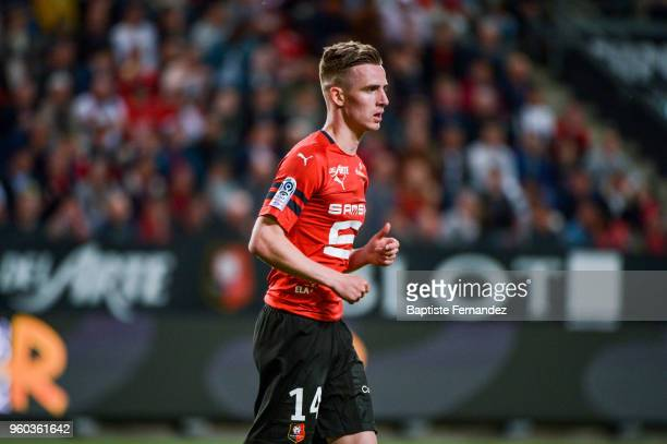 Benjain Bourigeaud of Rennes during the Ligue 1 match between Stade Rennes and Montpellier Herault SC at Roazhon Park on May 19 2018 in Rennes