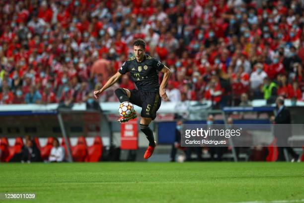 Benjamim Pavard of FC Bayern Munchen during the UEFA Champions League group E match between SL Benfica and Bayern Muenchen at Estadio da Luz on...