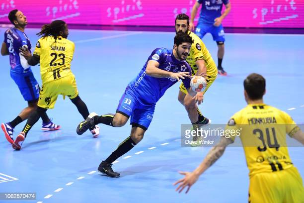 Benjamin Afgour of Montpellier during the Lidl Starligue match between Tremblay and Montpellier on November 17 2018 in TremblayenFrance France