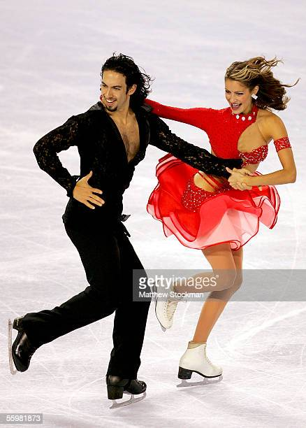Benjamin Agosto and Tanith Belbin compete during the original dance program of the Smart Ones Skate America October 21, 2005 at Boardwalk Hall in...