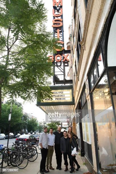 Benjamin Allred Jake Stormoen Douglas Pasko Kurt Knight Baylee Self and Lauren Spalding attend The Appearance Movie Premiere At Cinepocalypse at...