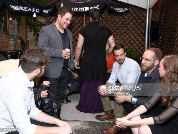 Benjamin Allred Kurt Knight Jake Stormoen Douglas Pasko and Baylee Self attend The Appearance Movie Premiere At Cinepocalypse at Music Box Theater on...