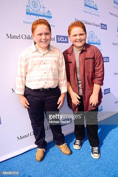 Benjamin and Matthew Royer arrive at Mattel Children's Hospital UCLA 16th Annual Party On The Pier Fundraiser at Santa Monica Pier on September 27...