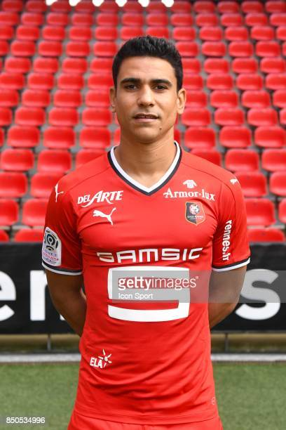 Benjamin Andre during photoshooting of Stade Rennais for new season 2017/2018 on September 19 2017 in Rennes France