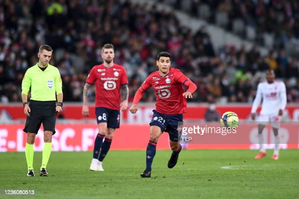 Benjamin ANDRE during the Ligue 1 Uber Eats match between Lille and Brest at Stade Pierre Mauroy on October 23, 2021 in Lille, France.