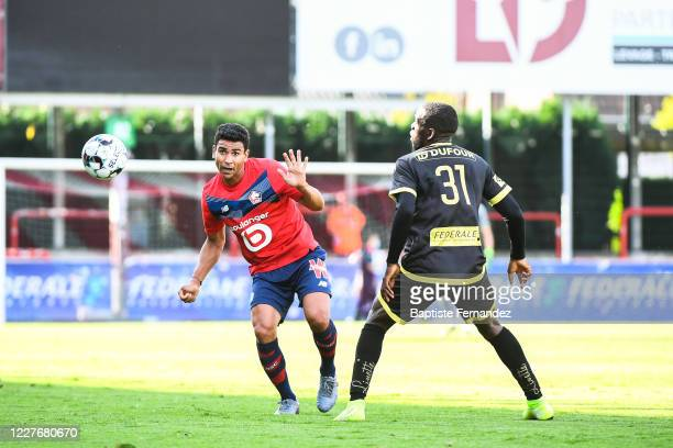 Benjamin ANDRE of Lille during the Friendly match between Lyon and Mouscron on July 18 2020 in Mouscron Belgium