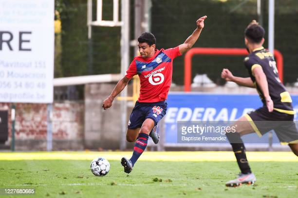 Benjamin ANDRE of Lille during the preseason soccer friendly match between Lille and Mouscron on July 18 2020 in Mouscron Belgium