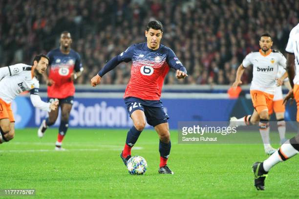 Benjamin ANDRE of Lille during the UEFA Champions League Group H match between Lille and Valencia on October 23 2019 in Lille France