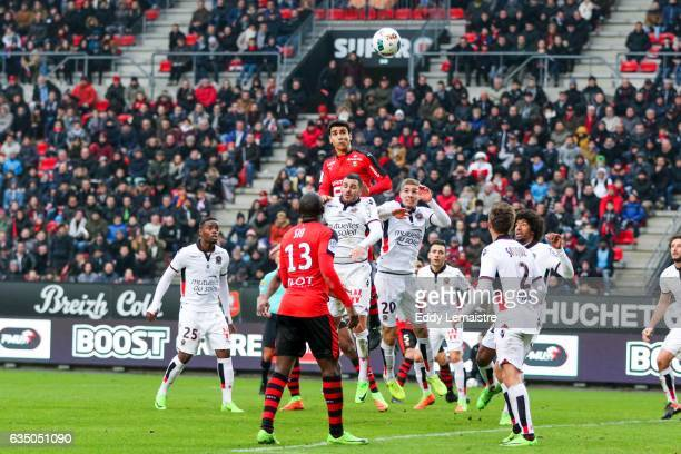 Benjamin Andre of Rennes during the Ligue 1 match between Stade Rennais and OGC Nice at Roazhon Park on February 12 2017 in Rennes France