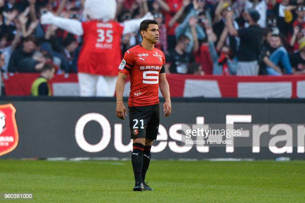 Benjamin Andre of Rennes during the Ligue 1 match between Stade Rennes and Montpellier Herault SC at Roazhon Park on May 19 2018 in Rennes