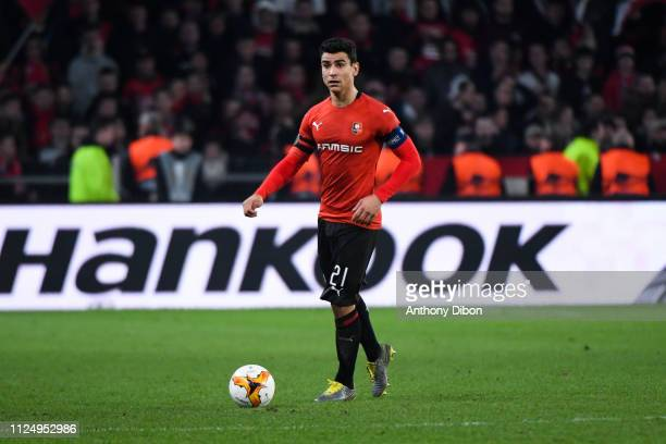 Benjamin Andre of Rennes during the UEFA Europa League Round of 32 First Leg match between Rennes and Real Betis at Roazhon Park on February 14 2019...