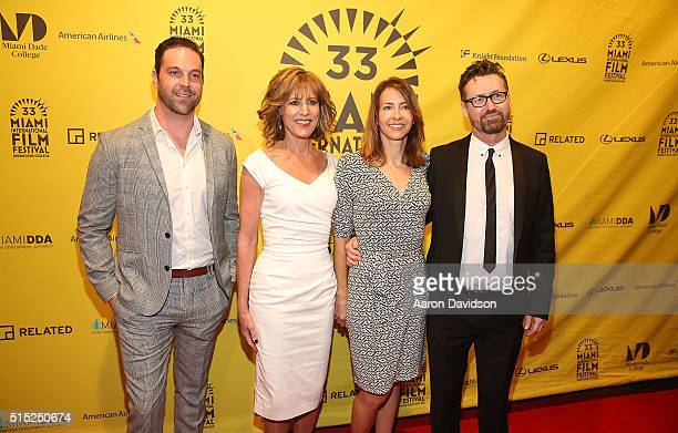 Benjamin Arthur Christine Lahti Robyn Harding and Andrew Currie attends Miami International Film Festival 2016 closing night awards>> at Olympia...