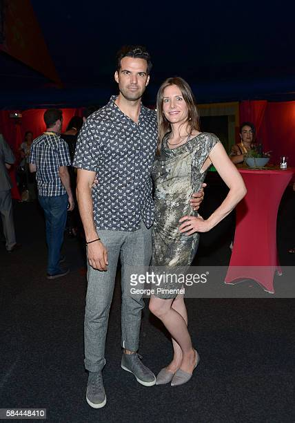 """Benjamin Ayres and Erin Ayres attend the opening of Cirque Du Soleil's """"Luzia"""" at Port Lands on July 28, 2016 in Toronto, Canada."""