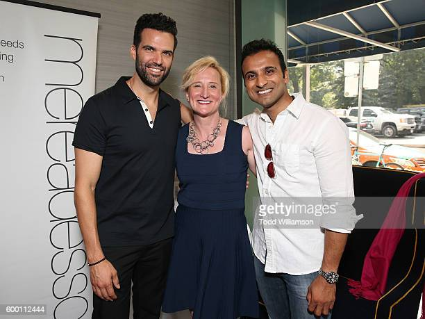 Benjamin Ayres and Huse Madhavji attend the 8th Annual Bask-It-Style Media Day At The Thompson Hotel By GLO Communications on September 7, 2016 in...