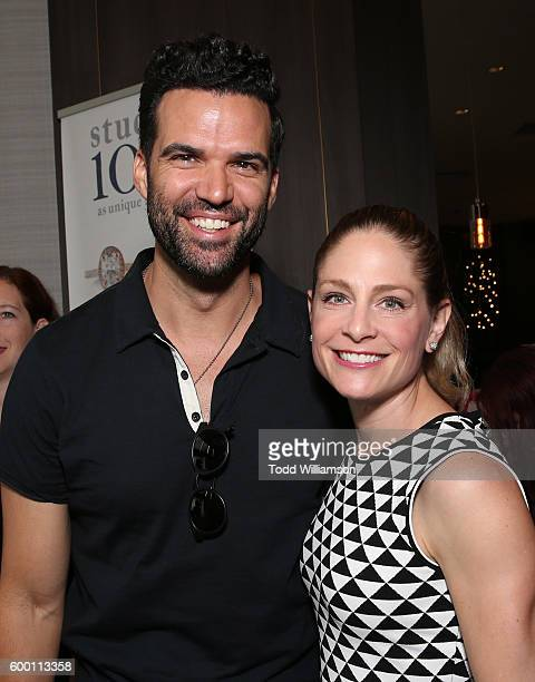 Benjamin Ayres and Tara Spencer-Nairn attend the 8th Annual Bask-It-Style Media Day At The Thompson Hotel By GLO Communications on September 7, 2016...